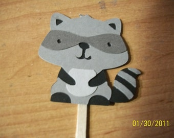 Raccoon cupcake toppers- set of 12