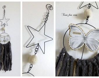 Dream dreams Butterfly wire, paper, linen N 65