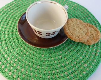 Natural linen, table placemats, tableware, Chrismas table mat, table decor, placemats set round table placemat, table coaster, kitchen decor