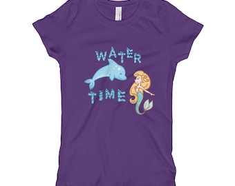 Girl's mermaid and dolphin T-Shirt