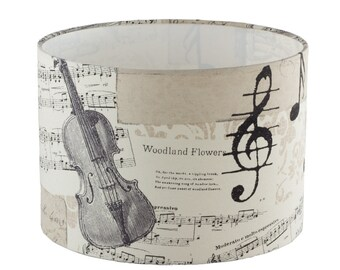 lampshade with musical notes 15,75 inch