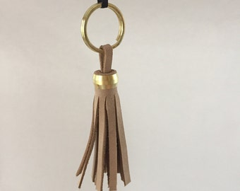 Leather Tassel, Recycled leather/Great Gift