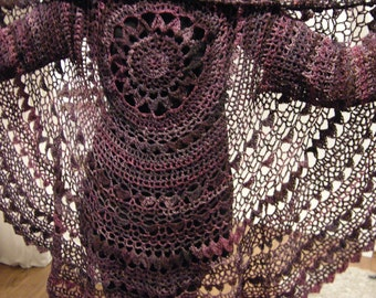 "Crochet Pattern, PDF, Kreisjacke, Häkelanleitung ""Flora"""