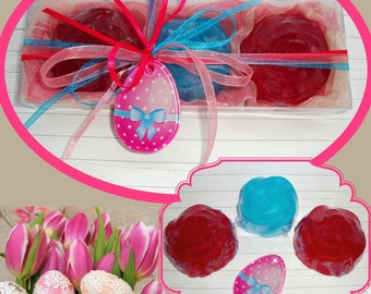 Easter hostess gift etsy sold pretty pink fuchsia easter gift set luxury vegan scented soaps handmade negle Gallery
