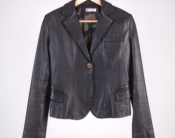 Leather Blazer 80 ' Gucci Style camouflage lining 100% handmade-cod D22