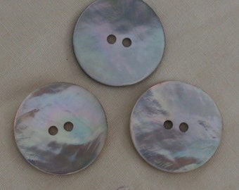Large Mother of Pearl Shell Buttons - 25mm