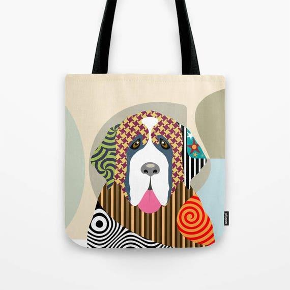 Saint Bernard Bag, Saint Bernard Gifts, Saint Bernard Accessories, Dog Tote Bag, Dog Lover's Gift, Animal Lover Gift, Pet Tote Bag