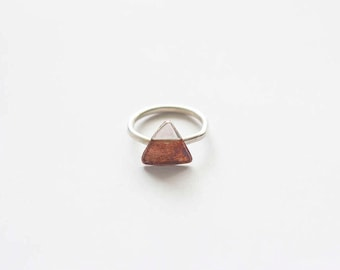 Copper + silver mountain ring