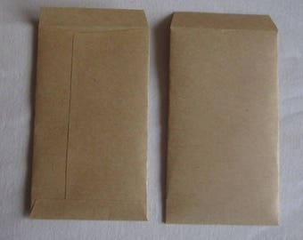"10 Kraft Coin Envelopes Confetti Envelopes Brown Packets Rustic Favors Seed Envelopes Wedding Envelopes Rustic Envelopes 3 7/8"" x 2 1/4"""