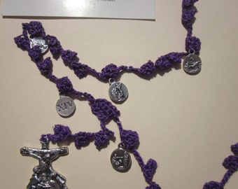 Stations of the Cross Chaplet in Penitential Purple