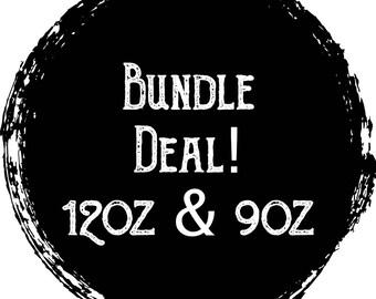 Mèche en bois Bundle transaction: 9oz & 4oz bougies de soja