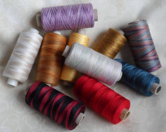 Valdani 35wt Hand Dyed Variegated Quilting and Sewing Threads