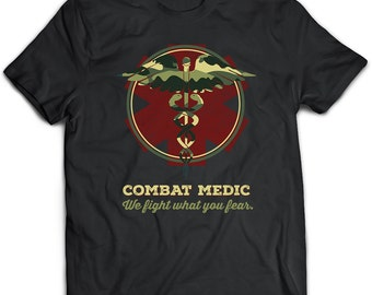 Combat Medic T-Shirt. Combat Medic tee. Combat Medic tshirt gift. //Buy 2 and get 10%OFF//