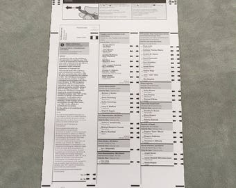 President Barack Obama : Official Ballot - 2008
