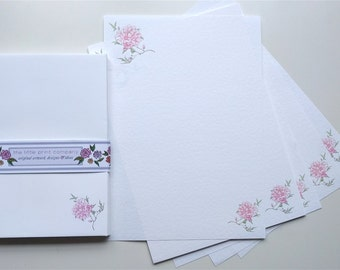 Peony writing paper pack with co-ordinating envelopes