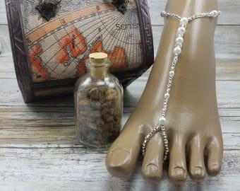 Wedding Barefoot Sandals Pearl Crystal Destination Wedding Foot Jewelry Beach Sandals Wedding Barefoot Sandals