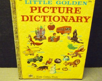 Picture Dictionary - Little Golden Book - 1971