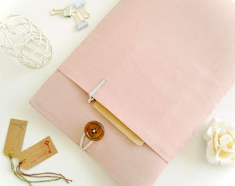 Kindle Cover Case, Kindle Paperwhite Sleeve, Kindle Paperwhite Cover, Kindle Oasis Sleeve, Amazon Kindle Fire 7 Pouch -  Rose Pink Linen
