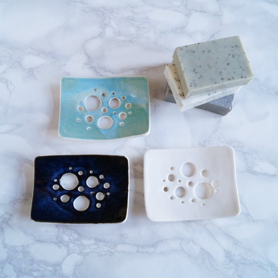 Made to order BUBBLE soap dish, choose colour