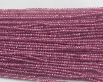 "Pink tourmaline rondelle facetted beads 2.5mm 12"" each"