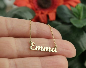 Personalized Name Necklace Gold Name Necklace Custom Name Necklace  Gift For Her Plate Necklace Jewelery Necklaces Jewelry Mother's Day Gift