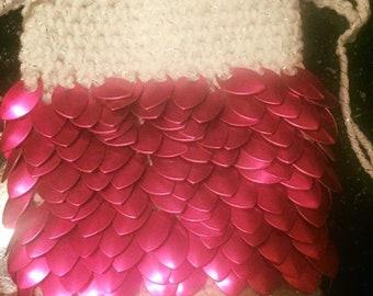 White and pink tarot bag