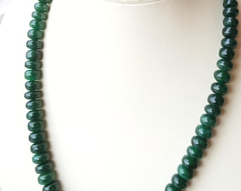 Natural Emerald Necklace ~~~ Smooth Oval Beads ~~~ 473 Carats ~~~ 1 Strands ~~~ Splendid Colour ~~~ Natural Gemstone ~~~