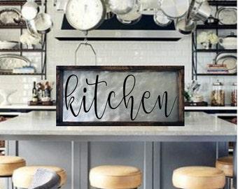 Kitchen Sign, Farmhouse Kitchen Sign, Farmhouse Signs, Metal Kitchen Sign, Farmhouse Kitchen Wall Decor, Rustic Kitchen Sign, Kitchen Art
