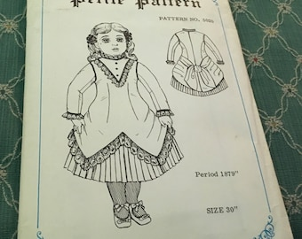 30 inch doll pattern design from 1879