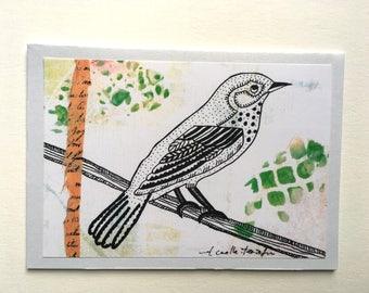 Doodle art card - Bird