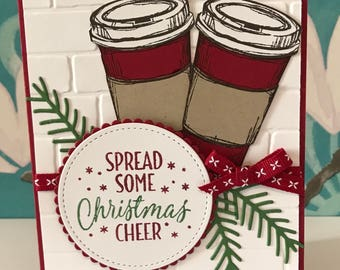 Stamping Up Spread some Christmas Cheer Coffee Christmas Card