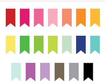 Ribbon Edge Banner Frames, Labels, Tags - 20 Pieces for Personal & Commercial Use - INSTANT DOWNLOAD