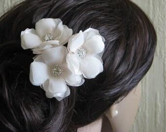 Cream champagne hair flower Cream wedding flower Champagne hair flower Champagne wedding Champagne accessory Cream wedding Cream headpiece