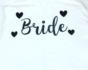 Bride Tank Tops, Getting Married Tank, Bridal Shower Gifts, Bride Personalized Shirts, Wedding Shirts, Bride To Be Racer-Back Tank Tops