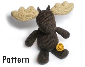 PDF Pattern - Marigold the Moose - Knitting