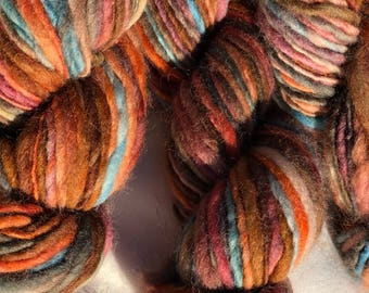 Hand Spun Rust Yarn