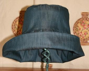 Denim hat, denim summer hat, gardeners hat, sunhat, deep brimmed hat, handmade denim floppy hat, holidays, gardening, lightweight sun hat