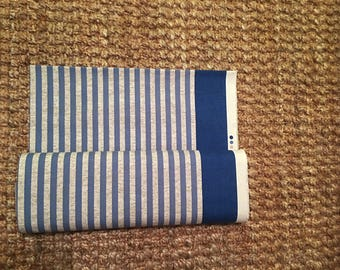 Japanese Kokka Striped Cotton Linen Lightweight Canvas fabric 1/2 yard.