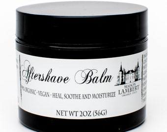 Organic Aftershave Balm - After Shave Balm - Aftershave for Men - Aftershave Lotion - Aftershave Balm for Men - After Shave Balm Men