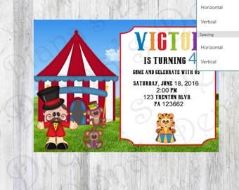 Circus Invitation/Carnival Invite/Circus Invite/Carnival Invitation/Circus Party/Circus Birthday/Circus Theme/Circus Baby Shower/Circus Card