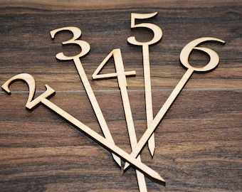 Wedding table number, wooden table numbers, rustic wedding table numbers, unfinished wood numbers, diy wedding table decoration