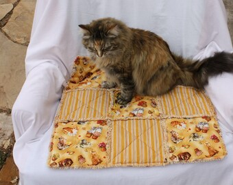 Couch Cover, Pet Blanket, Catnip Blanket, Pet Bedding, Fabric Cat Bed, Designer Cat Bed, Cat Bed, Luxury Cat Blanket, Pet Supplies, Pet Mat