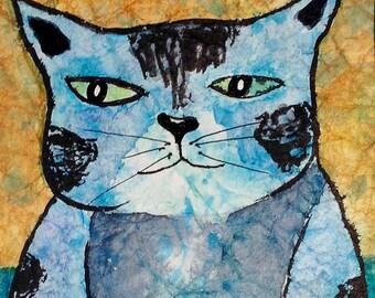 Cat Art Print Aristotle