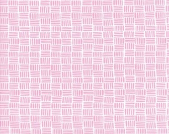 Moda - Bungalow Parquet by Kate Spain - Pink -  27298 34  - 100% cotton fabric - Fabric by the yard(s)