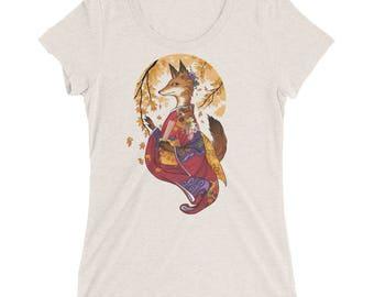 Kitsune Art | Fox TShirt | Fantasy Art | Ladies' short sleeve t-shirt | Kitsune shirt