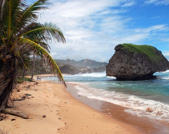Bathsheba Beach located on Barbados