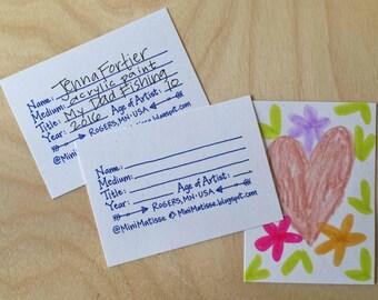 Künstler-Trading Card Stempel: für Kunst Lehrer, handgemacht, selbstfärbender oder rote Gummi