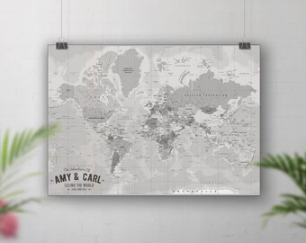 Vintage world map, Travel map push pin, Places we've been map, Push pin world map, Pin board, Personalised map, World travel map, Custom map