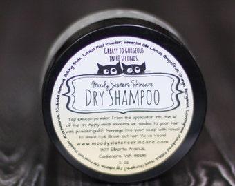 Organic Grapefruit Dry Shampoo - Natural Hair Care Organic Dry Shampoo with puff applicator
