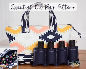 Essential Oil Storage PATTERN, Essential Oil Case, Oil Bag, Holds up to 14 Bottles, PDF Pattern, *Permission to Sell Finished Item